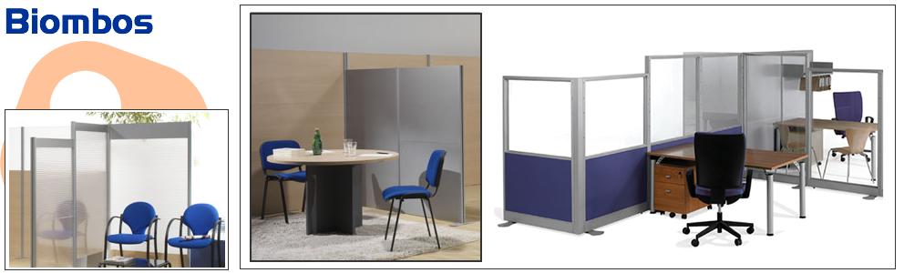 Biombos cerramientos de oficina mobiliario de oficina for Biombos metalicos