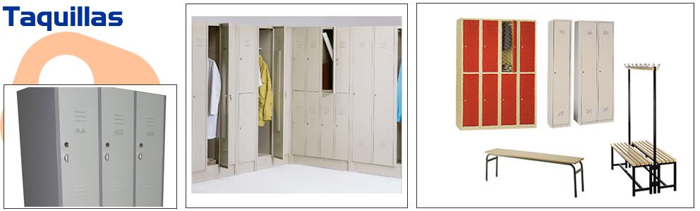 Taquillas de metal taquilla de vestuarios mobiliario for Precio taquillas vestuarios